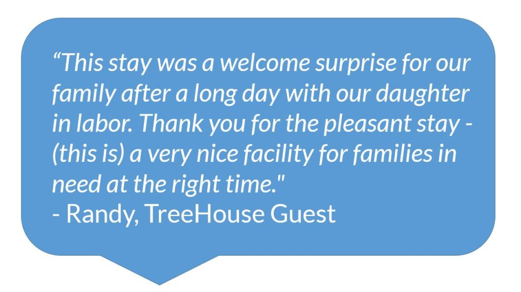 Quote from TreeHouse Guest