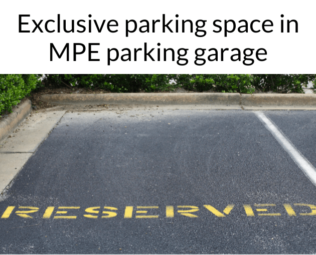Reserved parking spot in MPE